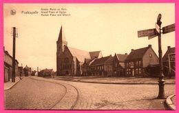 Poelcapelle - Grand'Place Et Église - Groote Markt En Kerk - Market Place And Church - Rails - NELS - H. NUYTTENS - Langemark-Poelkapelle