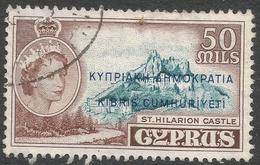 Cyprus. 1960-61 Republic Overprint. 50m Used. SG 198 - Cyprus (Republic)