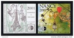 SUPERBES BLOCS CNEP - TIRAGE LIMITE N° 33 Et 34 ** Neufs  MNH Superbes Tour Eiffel Decaris Guirlande Nancy - CNEP