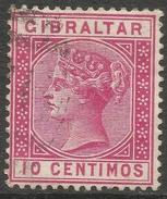 Gibraltar. 1889-96 QV. Spanish Currency. 10c Used. SG23 - Gibraltar
