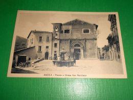 Cartolina L'Aquila - Piazza E Chiesa San Marciano 1930 Ca - L'Aquila