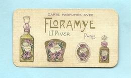 """Carte Parfumée """"avec Floramye""""L.T.Piver   4 Variétés Pub Au Verso Sâo Paulo - Perfume Cards"""