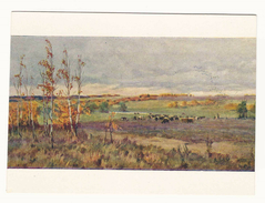 Autumn Time. Nature. Cows. Painting By S. Rychagov.  Russian Art. Postcard 1958. Unused. - Elevage