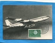 """BOEING 707"" Gros Plan+Marcophilie-cachet XX° Salon Du Bourget  Aéronautique-mai 1961 - 1946-....: Era Moderna"