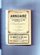 Annuaire Administratif Et Statistique Du Département De La SOMME Pour L'année 1952 - Picardie - Nord-Pas-de-Calais