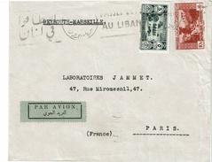 CTN49/09 - LIBAN LETTRE AVION BEYROUTH / PARIS SEPTEMBRE 1938 - Liban