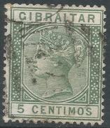 Gibraltar. 1889-96 QV. Spanish Currency. 5c Used. SG22 - Gibraltar