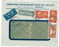 CTN49/09 - LIBAN LETTRE AVION BEYROUTH / PARIS MAI 1936 - Liban