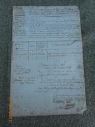 Lot De 4 Documents Originaux Pour Un Soldat De La Grande Armee (Napoleon)  Originaire De L' Aube - Historische Dokumente