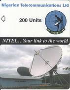NIGERIA - Earth Station, Nigerian Telecom Ltd First Chip Issue 200 Units, Sample(no Chip, No CN) - Nigeria