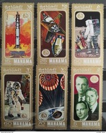 TS28 - Ajman MANAMA 1971 Mi. 412-417 Complete Set 6v. MNH - Space Exploration, Apollo 14 - Manama