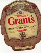 Étiquette / GRANT'S - FINEST SCOTCH WISKY - Whisky