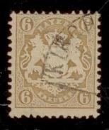 Bayern 1870-75, Staatswappen, Einzelmarke: Mi. # 24 Y Wz 1 Y. - Bavière