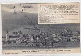 Gruss Aus Ricken - Mit Seinen Projekten Als Zukünftiger Luftkurort - 1909     (P-50-00226) - SG St. Gall