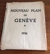 NOUVEAU Plan De Genéve * 1936  - Maurice Herren - Cartes