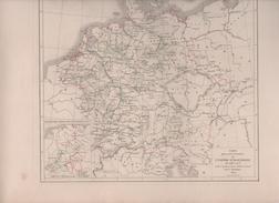 CARTES POUR SERVIR A L'HISTOIRE DE L'EMPIRE D' ALLEMAGNE DRESSEES PAR L DUSSIEUX EN 1855 - 1138 à 1275 / 1275 à 1455 - Landkarten