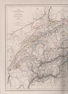 CARTE PHYSIQUE ET POLITIQUE DE LA SUISSE DRESSEE PAR L DUSSIEUX EN 1846 - Cartes Géographiques