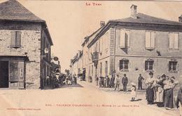 CPA Animée (81) VALENCE D' ALBIGEOIS La Mairie Et La Grande Rue - Valence D'Albigeois