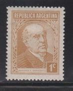 ARGENTINA Scott # 419 Mint Hinged - Sarmiento - Argentina