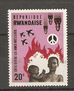 Rwanda -  1966 - Lutte Contre Les Armes Nucléaires - PUB MILKANA - MNH - COB 167 - Rwanda