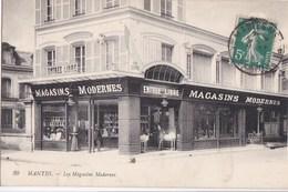 78 MANTES  Devanture Animée Commerce Les MAGASINS MODERNES Timbre - Mantes La Jolie
