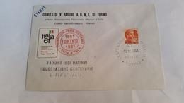 ITALIA - (1967) - 1961 MICHELANGIOLESCA L. 10 ISOLATO SU STAMPE CON ANNULLO CELEBRATIVO CENTENARIO  UNITÀ D'ITALIA - 1961-70: Storia Postale