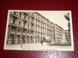 Cartolina Bari - Piazza Cavour - Monumento A Giuseppe Massari 1935 Ca - Bari