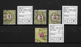 NACHPORTOMARKEN → SBK-Type2 (normal & Kopfstehend) + 18C (k) - Portomarken