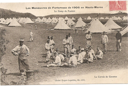 Cpa Du Camp De Foulain,manoeuvres De Forteresse De 1906 - Non Classés