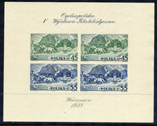 POLAND 1938 Warsaw Exhibition Imperforate Block MNH / **.  Michel Block 5B - Blocks & Sheetlets & Panes