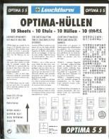 Leuchtturm - Feuilles OPTIMA 5 Bandes (10) - Fond Noir - For Stockbook