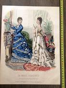 PLANCHE DE GRAVURE DE MODE ILLUSTREE 1875 TOILETTES FLADRY  ANAIS TOUDOUZE - Collections