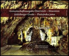 Austria-Slovenia 2013: 2 Foglietti Grotte Di Postumia / Postojna Cave Joint Issue, 2 S/S ** - Joint Issues