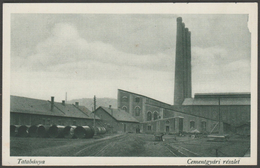 Cementgyári Részlet, Tatabánya, Komárom-Esztergom, 1925 - Monostory Tyorgi Levelezőlap - Hungary