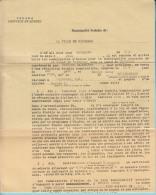 Valcour Quebec - 1958 Contrat D'engagement Institutrice, Signature Commissaires Ecoles Et Institutrice  - 3 Scans - Documents Historiques