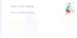 GREAT BRITAIN WINDOW FIRST DAY COVER - 26.11.1975 - BRITISH THEATRE - Covers & Documents