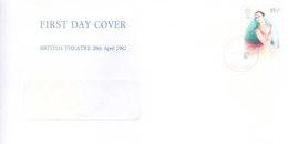 GREAT BRITAIN WINDOW FIRST DAY COVER - 26.11.1975 - BRITISH THEATRE - 1952-.... (Elizabeth II)