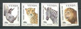 202 VENDA 1990 - Yvert 200/03 - Rhinoceros Felin Zebre - Neuf ** (MNH) Sans Trace De Charniere - Venda