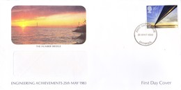 GREAT BRITAIN WINDOW FIRST DAY COVER - 25.05.1983 - THE HUMBER BRIDGE, ENGINEERING ACHIEVEMENTS - Covers & Documents