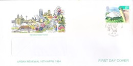 GREAT BRITAIN WINDOW FIRST DAY COVER - 10.04.1984 - INTERNATIONAL GARDEN FESTIVAL - Covers & Documents