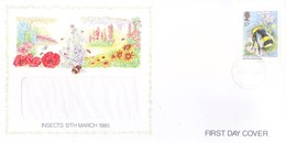 GREAT BRITAIN WINDOW FIRST DAY COVER - 12.03.1985 - INSECTS - 1952-.... (Elizabeth II)