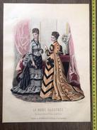 PLANCHE DE GRAVURE DE MODE ILLUSTREE 1875 TOILETTES BREANT CASTEL LAURE NOEL - Collections