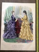 PLANCHE DE GRAVURE DE MODE ILLUSTREE 1875 TOILETTES FLADRY  ANAIS TOUDOUZE - Vieux Papiers