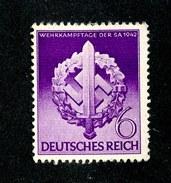 16478  3rd Reich 1942  Michel #818 (*) ( Cat .20€ ) Offers Welcome - Deutschland