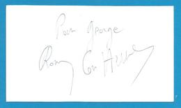 (A618) - Signature / Dédicace / Autographe Original - Ronny Coutteure - Acteur, Réalisateur - Autographes