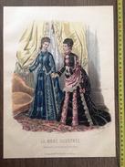 PLANCHE DE GRAVURE DE MODE ILLUSTREE 1875 TOILETTES FLADRY LAURE NOEL REVILLE - Collections