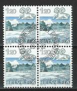 SBK 682, Mi 1229 Viererblock O ET - Schweiz