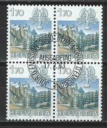 SBK 686, Mi 1242 Viererblock O ET - Schweiz