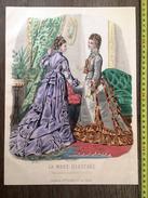 PLANCHE DE GRAVURE DE MODE ILLUSTREE 1875 TOILETTES FLADRY  LAURE NOEL - Collections