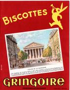 Buvard Biscottes Gringoire - Pithiviers En Gâtinais. Illustration : L'Eglise De La Madeleine à Paris. - Biscottes